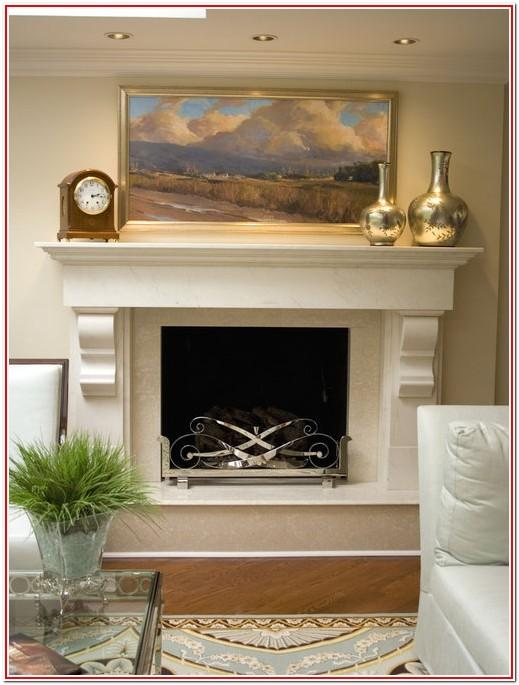 living room mantel decor ideas