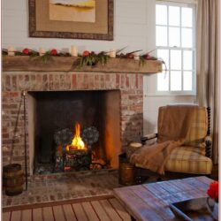 Living Room Mantel Decorating Ideas Industrial