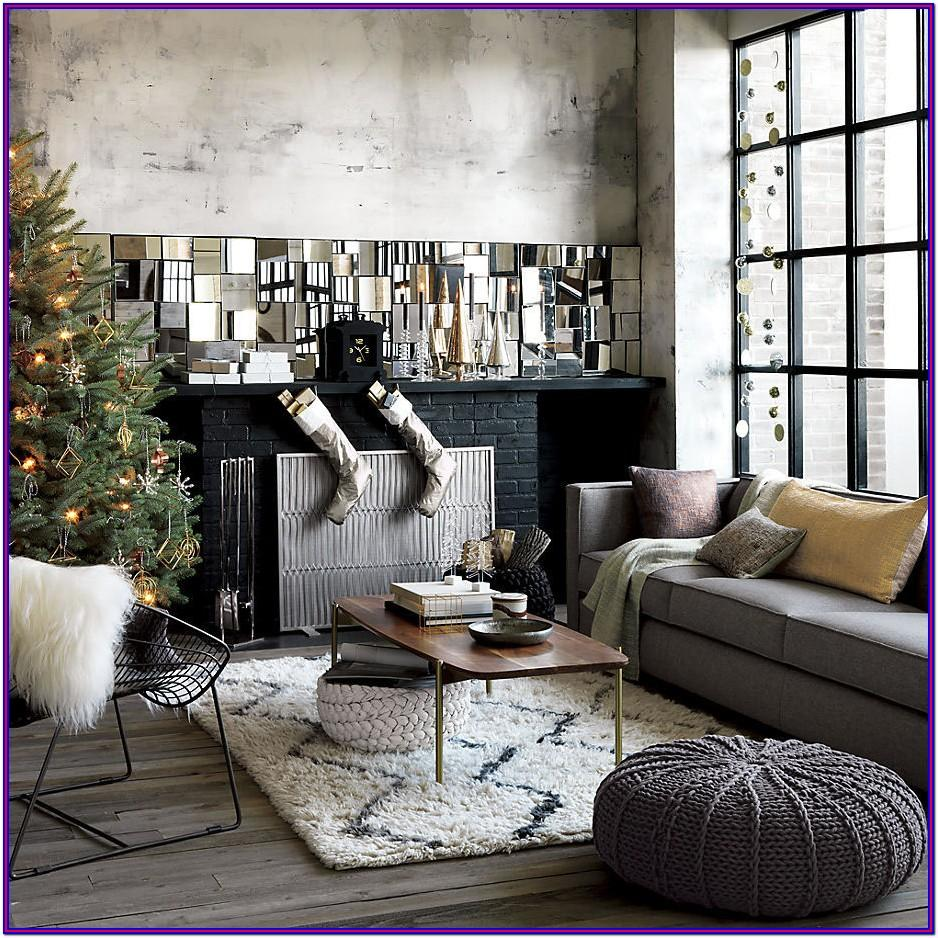 Living Room Modern Christmas Decorating Ideas