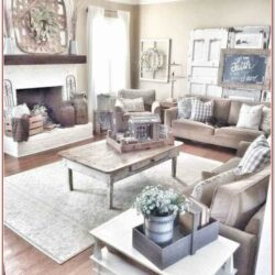 Living Room Modern Farmhouse Style Farmhouse Decor Ideas 1