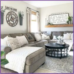 Living Room Modern Farmhouse Style Farmhouse Decorating Ideas