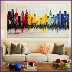 Living Room Modern Wall Art Decor