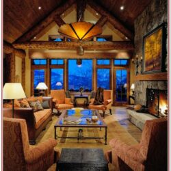 Living Room Mountain Cabin Decor