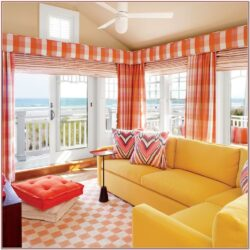 Living Room Orange Decor