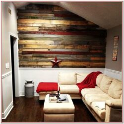 Living Room Pallet Wall Decor