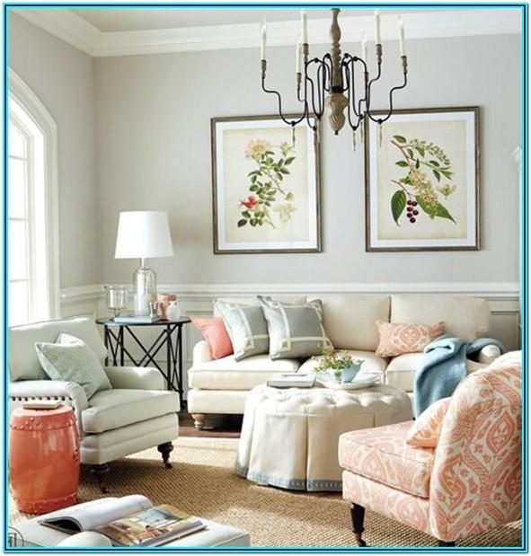 Living Room Pastel Home Decor