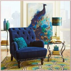 Living Room Peacock Decor