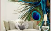 Living Room Peacock Feather Decorations Home