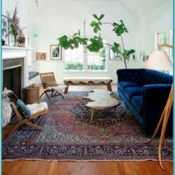 Living Room Persian Rug Decor 1