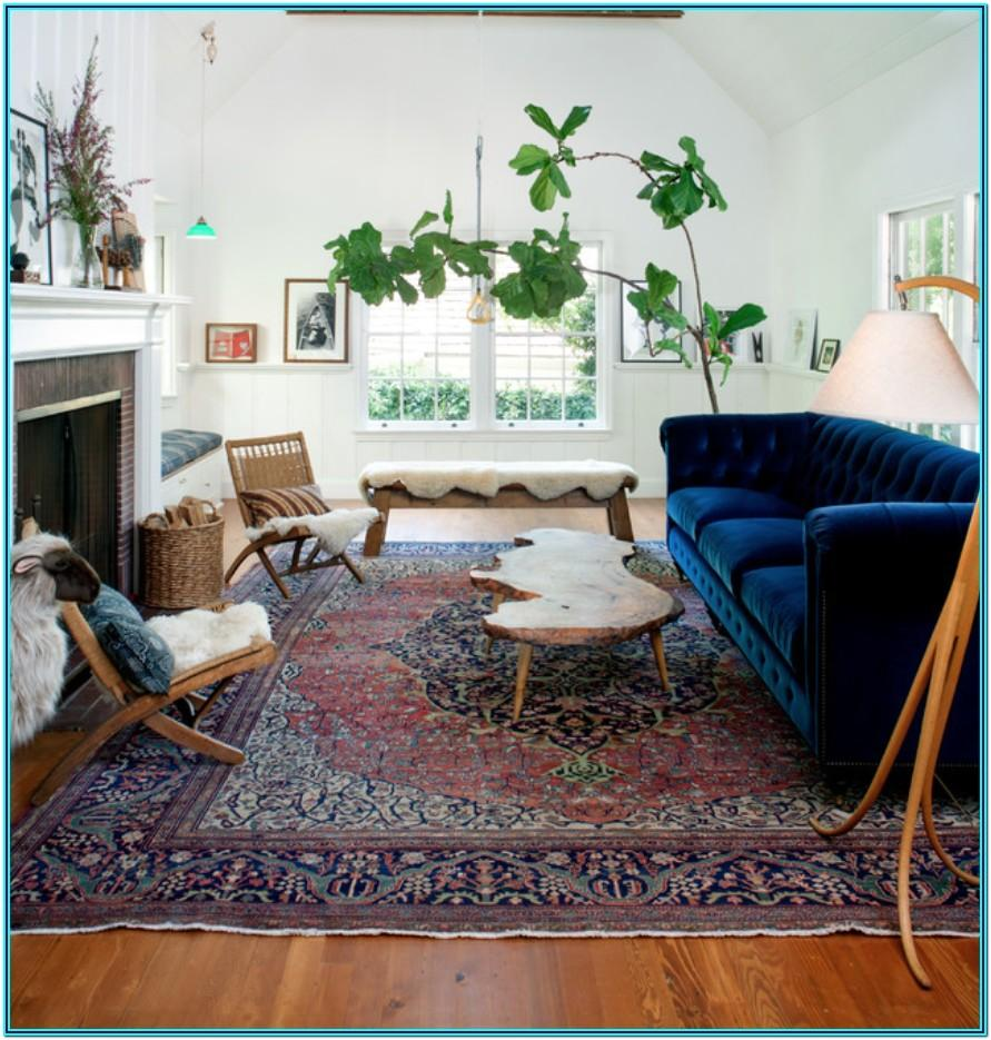 Living Room Persian Rug Decor