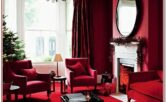 Living Room Red Wall Decor