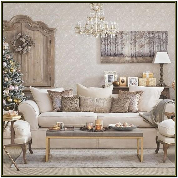 Living Room Rose Gold Christmas Decorations
