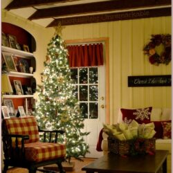 Living Room Rustic Christmas Decorations