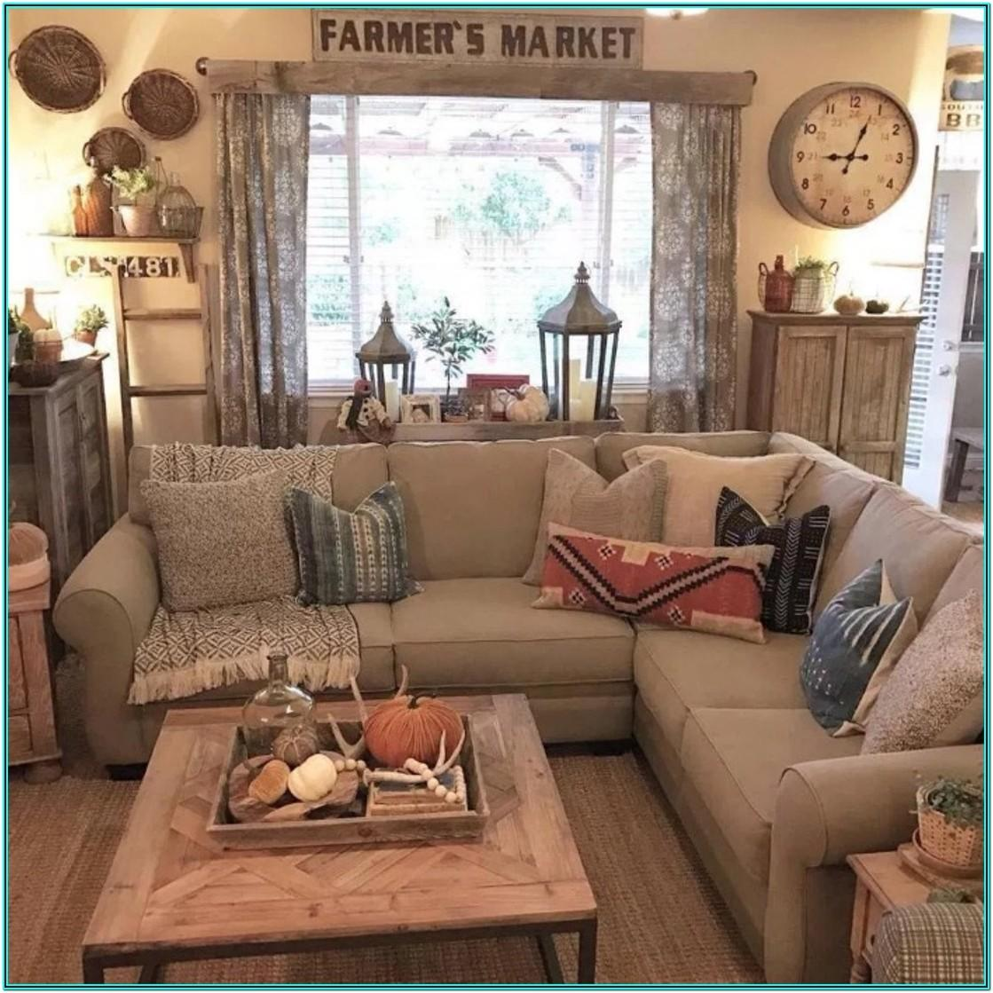 Living Room Rustic Farmhouse Decorating Ideas