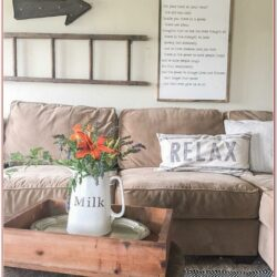Living Room Rustic Wall Decor Ideas