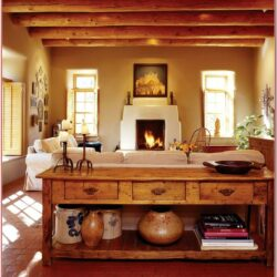 Living Room Santa Fe Decor