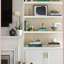 Living Room Shelves Decorating