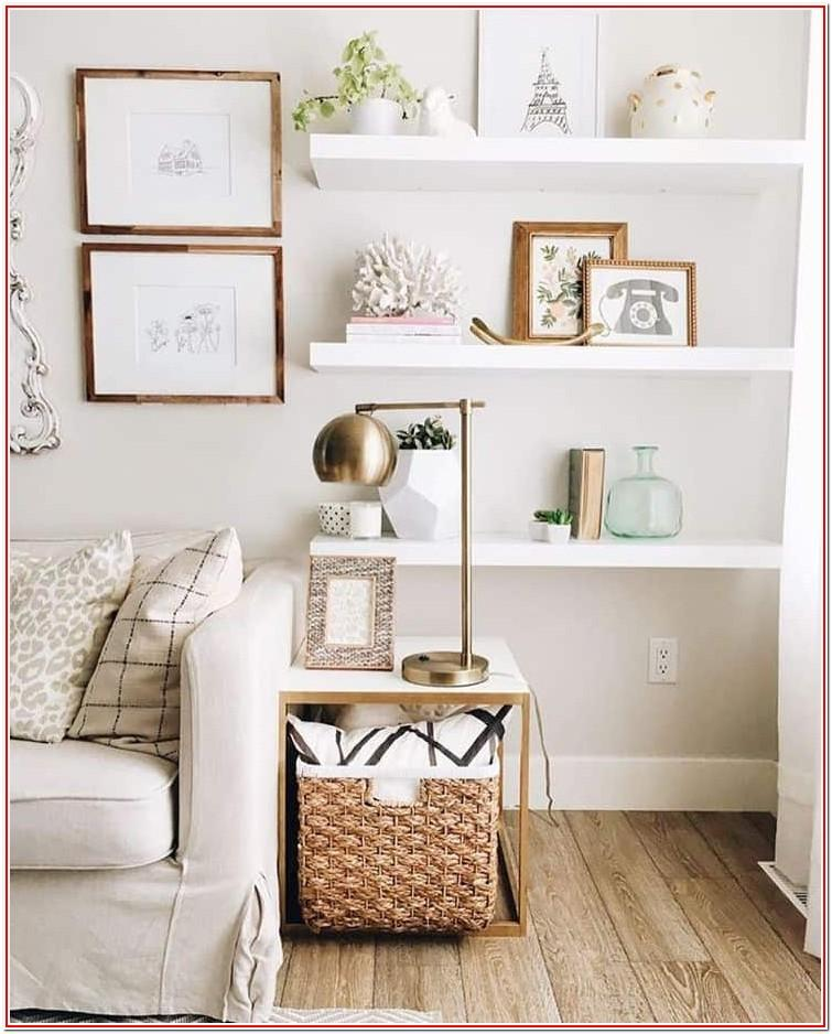 Living Room Shelves Decorating Ideas