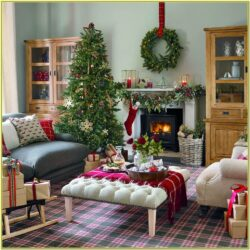 Living Room Simple Christmas Decoration Ideas For Home