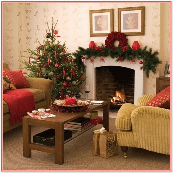 Living Room Simple Elegant Christmas Decorations