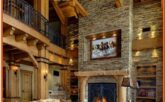 Living Room Ski Lodge Decor