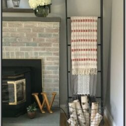 Living Room Throw Blanket Storage Ideas