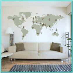 Living Room Travel Theme Decor