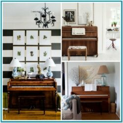 Living Room Upright Piano Decor