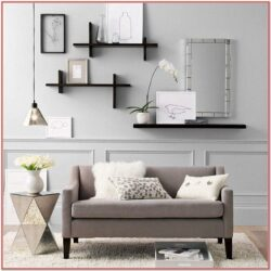 Living Room Wall Shelves Decorating Ideas 1
