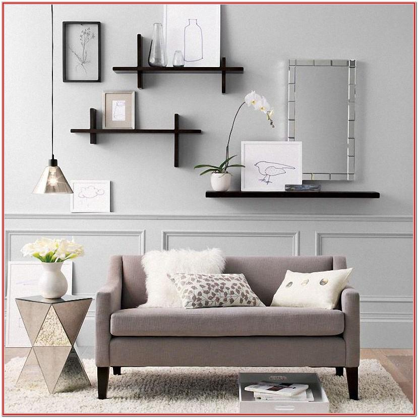 Living Room Wall Shelves Decorating Ideas