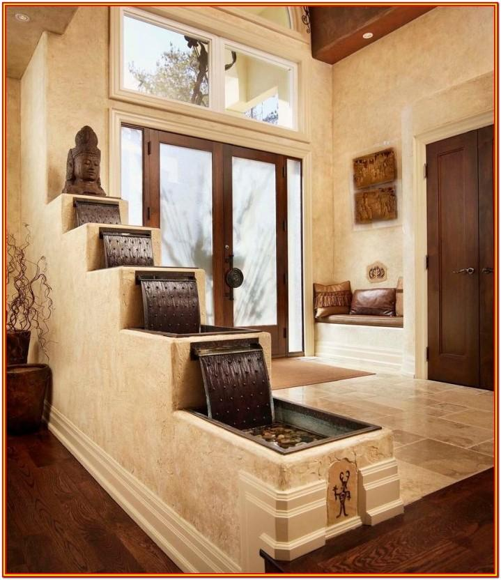living room water fountain decor