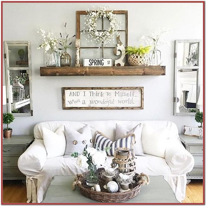 Long Living Room Wall Decor Ideas