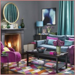Magenta Brown Wall Decor Living Room
