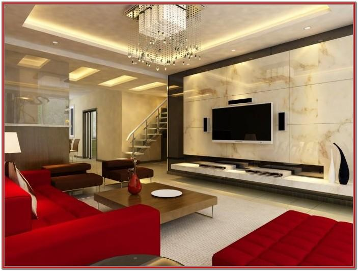Marble Walls Living Room Decor