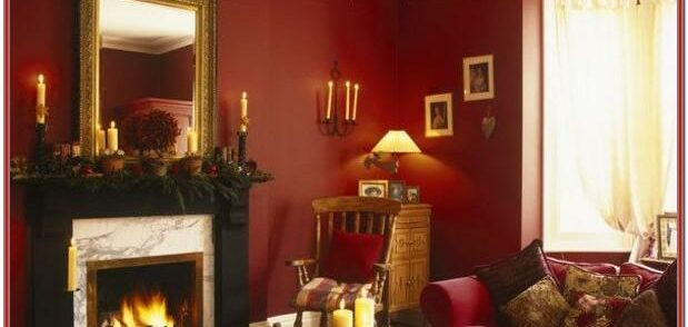 Maroon And Gold Living Room Decor