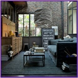 Modern Art Industrial Living Room Decor