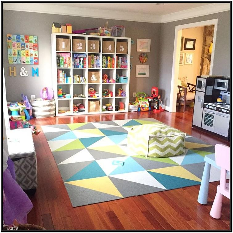 Modern Living Room Playroom Combo Ideas