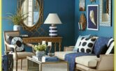 Navy Blue And Gold Living Room Ideas