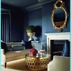 Navy Blue Wall Decor For Living Room