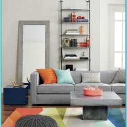 Peach And Gray Living Room Decor 1
