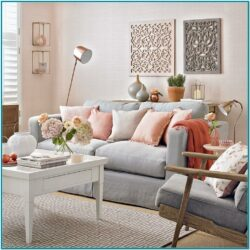 Peach Decor For Living Room