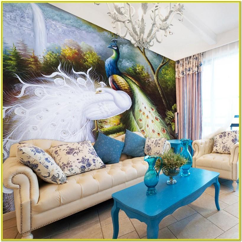 Peacock Color Living Room Ideas