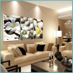 Pebbles Decoration In Living Room