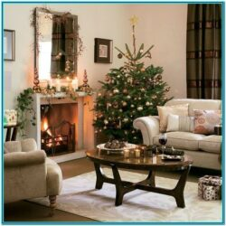 Pics Of Living Rooms Decorated For Christmas 1