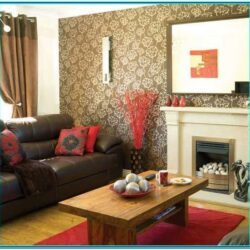 Pink And Brown Living Room Decoration 1