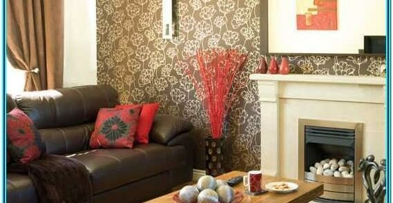 Pink And Brown Living Room Decoration