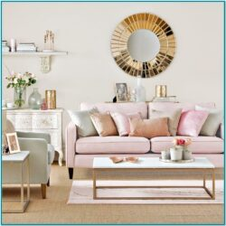 Pink And Gold Living Room Decor 1