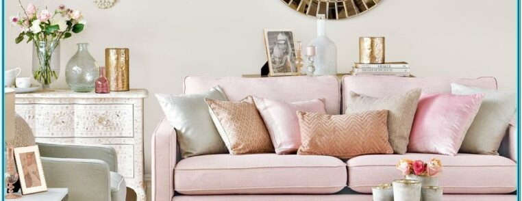 Pink And Gold Living Room Decor