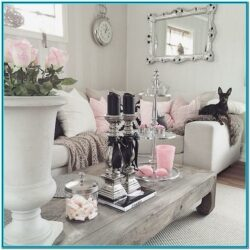 Pink And Gray Living Room Decor 1