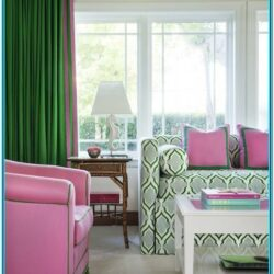 Pink And Green Living Room Decor 1